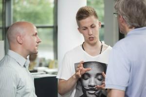 #SoMe - Gründer Sebastian Neumann und Kim Christpher Granz im Dialog über Blogger Relations © Bild: Liesa Flemming