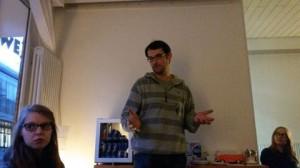 Branko Čanak bei der Erklärung des Coworking Spirits