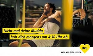 BVG #weilwirdichlieben Kampagnenbild