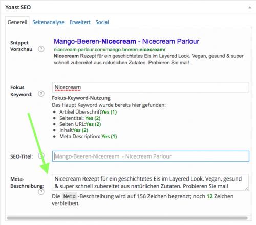 Pin-Beschreibung optimieren: WordPress SEO Plug-in Metabeschreibung optimieren